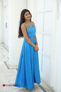 Telugu Actress Akshita (Pallavi Naidu) Latest Stills in Blue Long Dress at Inkenti Nuvve Cheppu Movie Promotions  0072.jpg