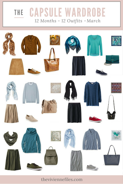 12 Months, 12 Outfits in 6 Capsule Wardrobes: March
