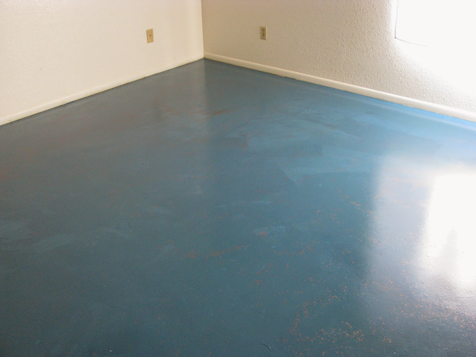 Diy Dilettante A Faux Turquoise Painted Concrete Floor