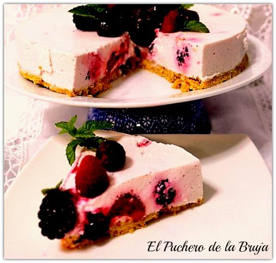 Tarta Mousse De Queso Y Frutos Rojos