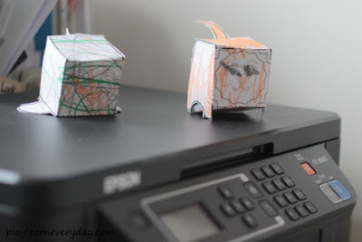 epson ET-3600 with paper toys on top