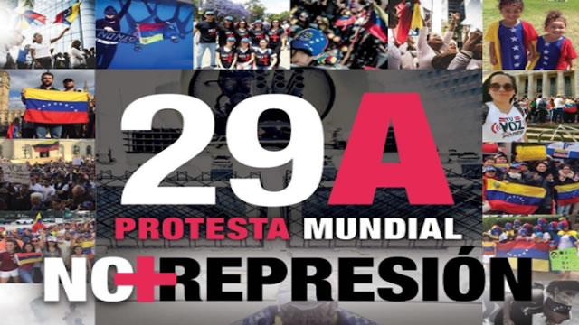 """""""Protesta Mundial"""" se realizará este sábado contra la represión en Venezuela"""