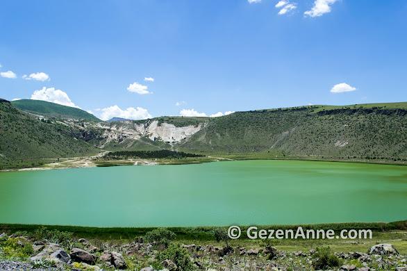 Ihlara vadisi yolundaki Narlıgöl krater gölü bir harika, Kapadokya