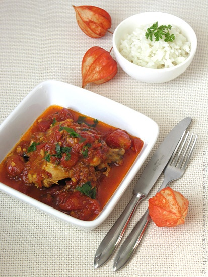 pomidorowy kurczak jalfrezi po hindusku