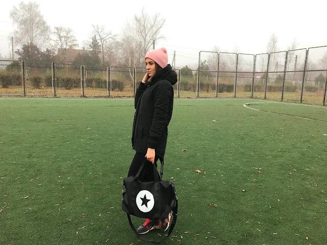 Zaful Star Color Block Gym Bag