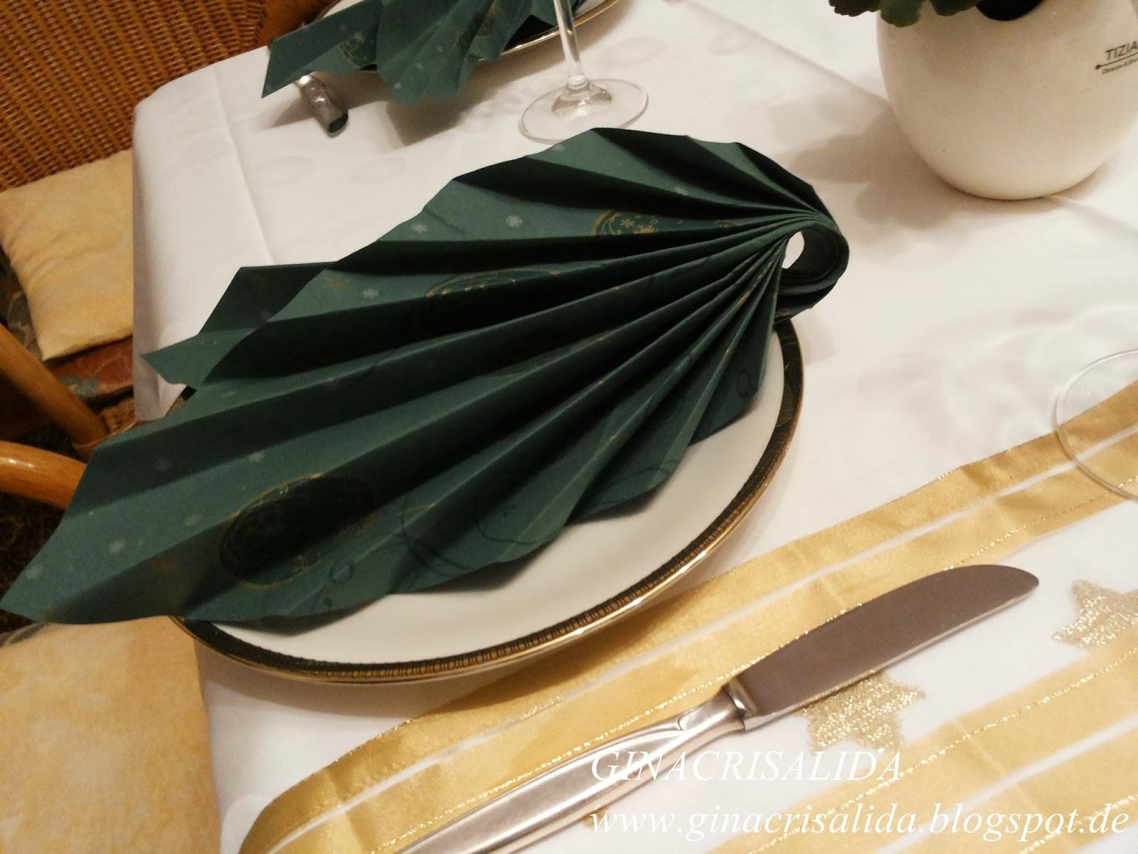 Luxus Servietten Falten Zweifarbig Design