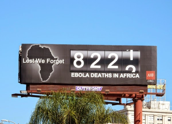 Ebola deaths Africa counter billboard