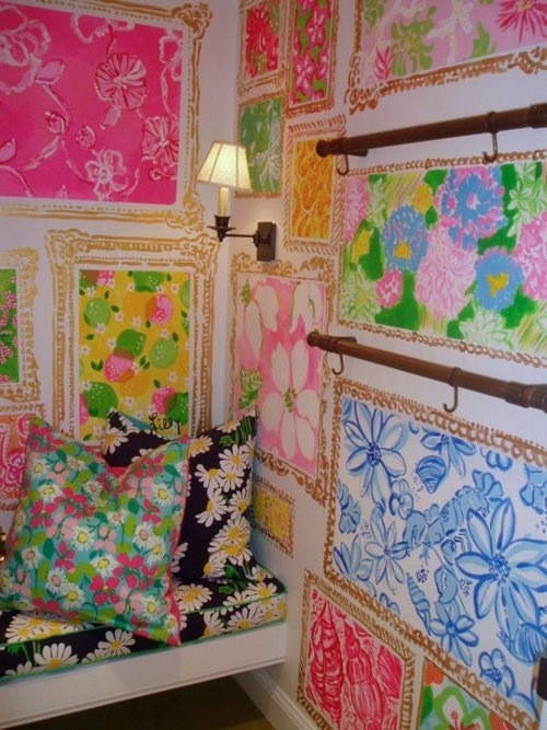 Paredes Pintadas das Lojas Lilly Pulitzer - Lilly Pulitzer Stores Wall Paintings
