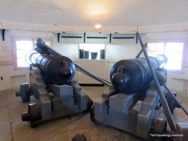 Inside Fort Denison