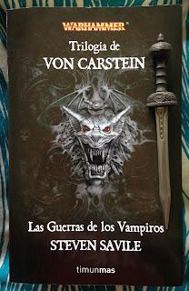 Portada de la edición ómnibus de la Trilogía von Carsten: Las guerras de los vampiros, de Steven Savile