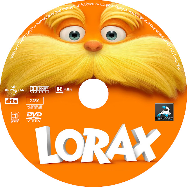 Label DVD The Lorax