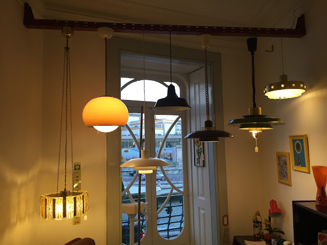 candeeiros, vintage, loja vintage, iluminação, decoração