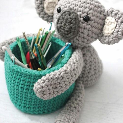Koala Crochet Basket - Free Pattern