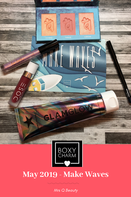 Boxycharm May 2019 Unboxing (Theme: Make Waves) (Alamar Cosmetics, Glam Glow, Dose of Colors, Ciate, Bodyography)