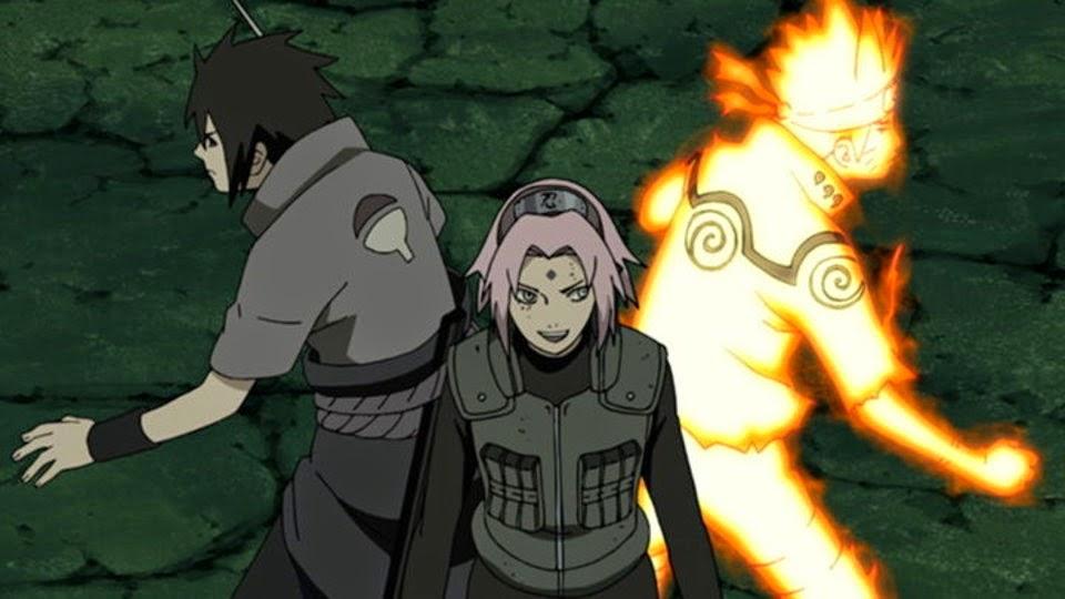 Equipo 7 se reúne, Sasuke, Sakura y Naruto