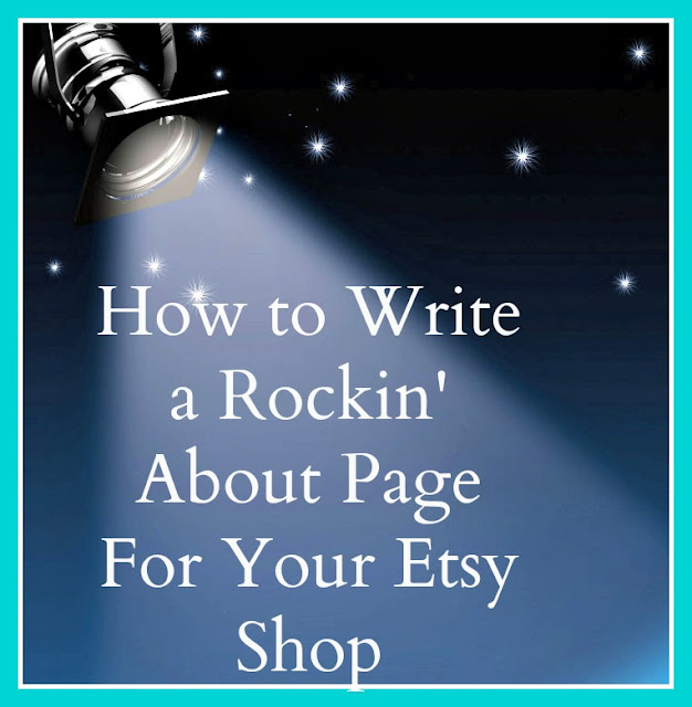 Etsy about page how to