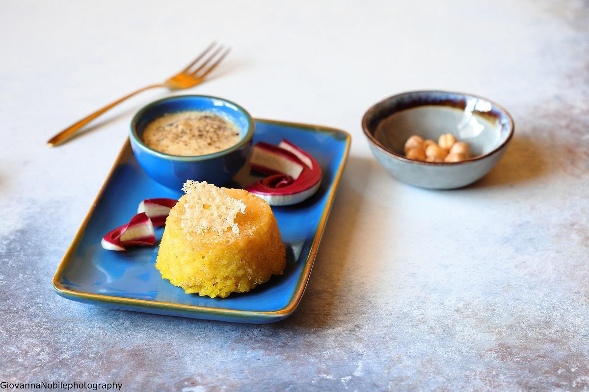 Timballini di riso con zafferano e parmigiano