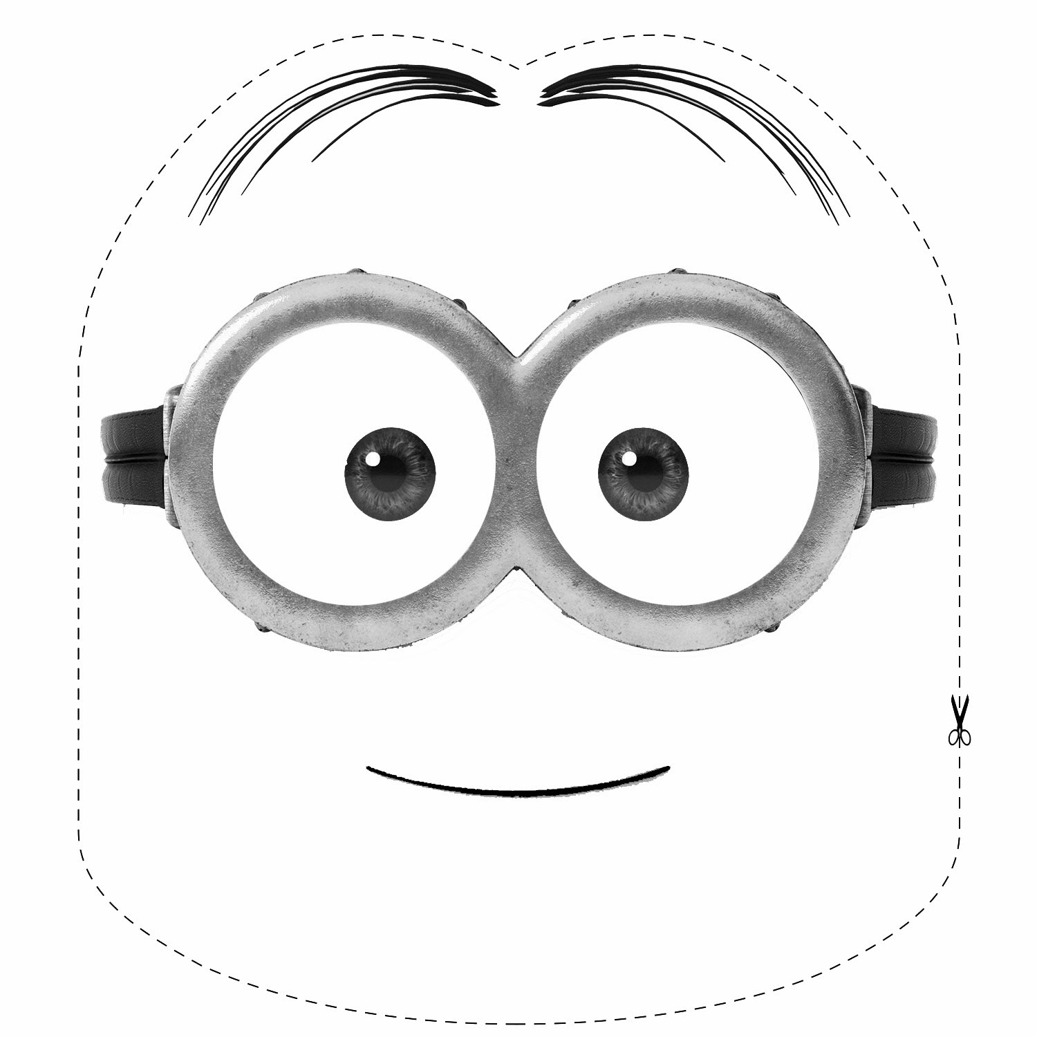 Free coloring pages of minion mask for Minion mask template