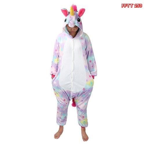 FFTT  253  Model Piyama Onesie Kostum Cosplay Bentuk Hewan Unicor.. Murah BMGSHOP