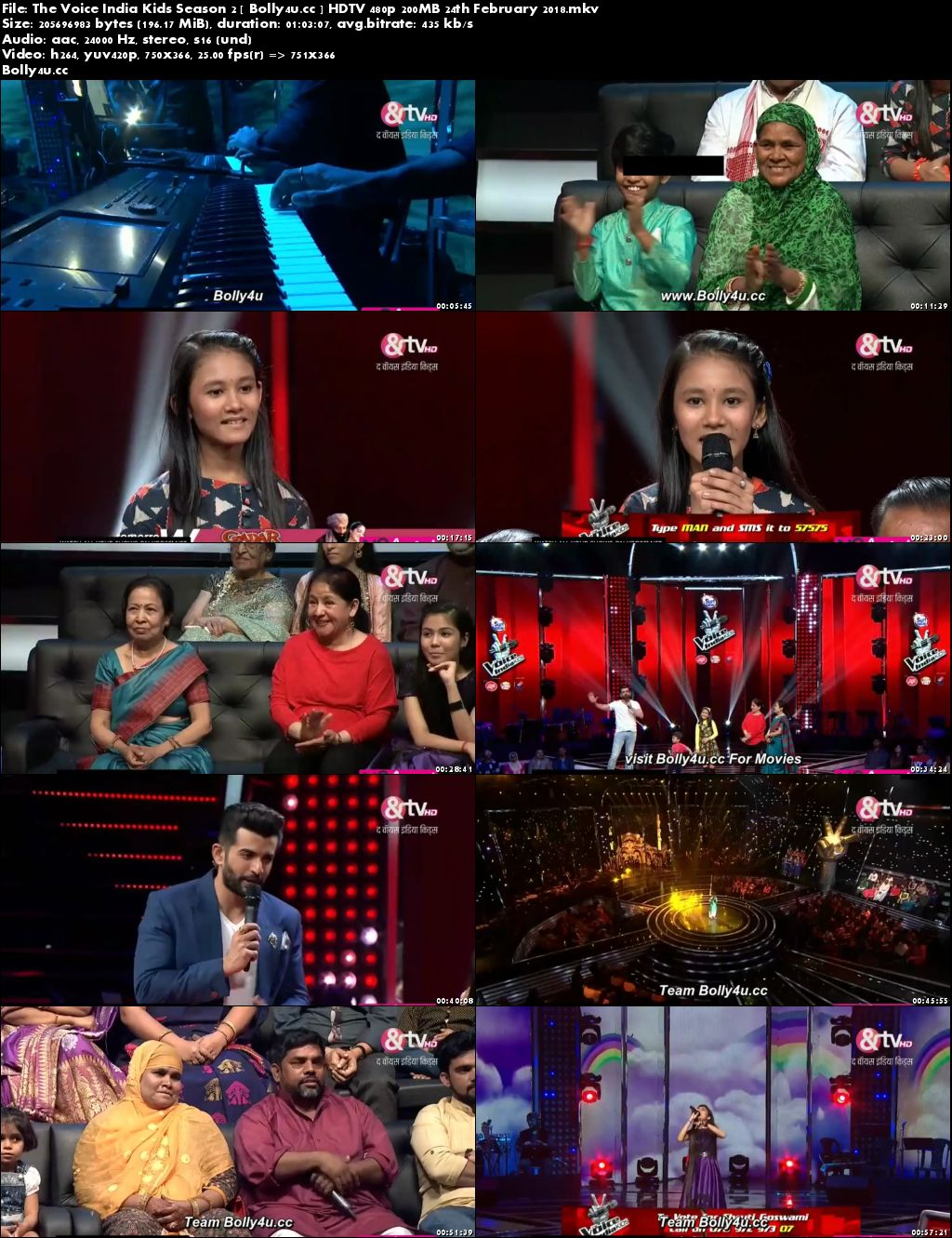 The Voice India Kids Season 2 HDTV 480p 200MB 24 February 2018 Download