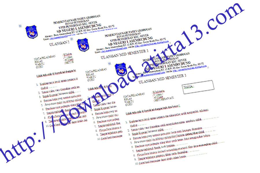 Download Update Kumpulan Soal Ulangan Harian Dan Uts Kelas V Sd Sebagai Bahan Referensi Latihan