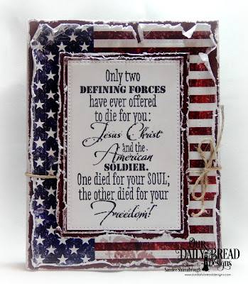 Our Daily Bread Designs Stamp: Defining Forces, Paper Collection: Stars and Stripes, Custom Dies: Pierced Rectangles
