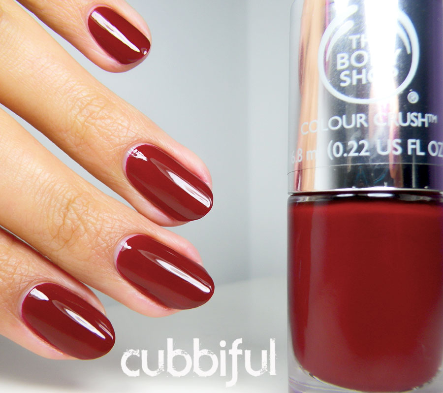 swatch of The Body Shop Crimson Kiss