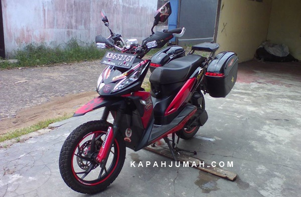 TVS Dazz Modifikasi Adventure Touring