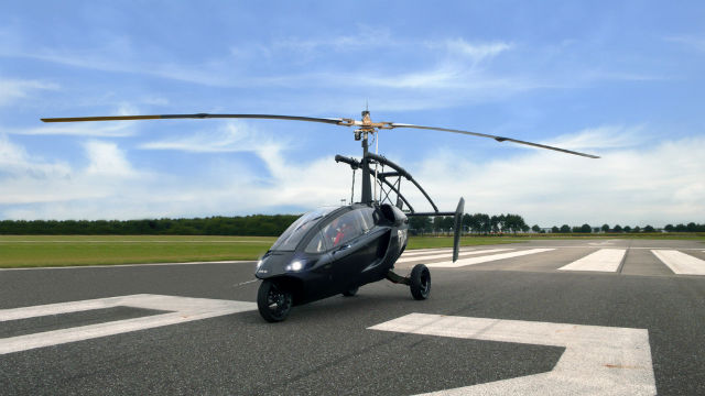PAL V prepared for take-off as the first ever commercially sold flying car
