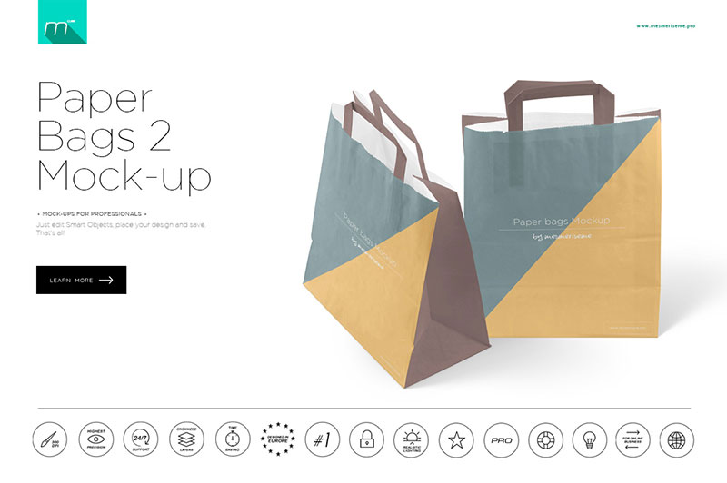 Paper Bags 2 Mock-up