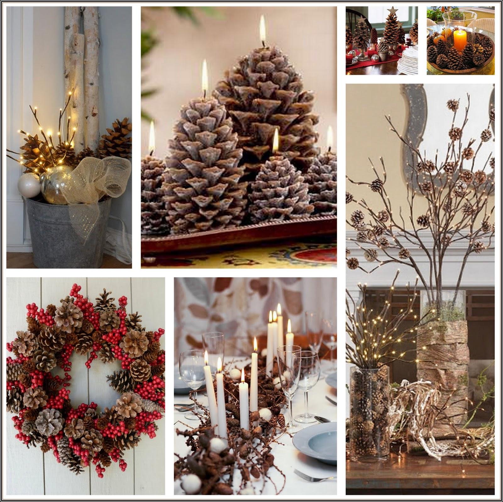 Insp rate en la naturaleza para decorar tu casa esta for Decoraciones navidenas para hacer en casa