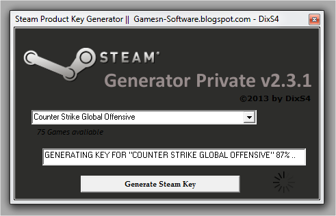 steam product code generator 2015