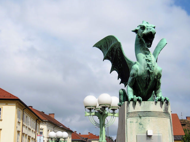 Things to do in Ljubljana Slovenia: check out the Dragon Bridge