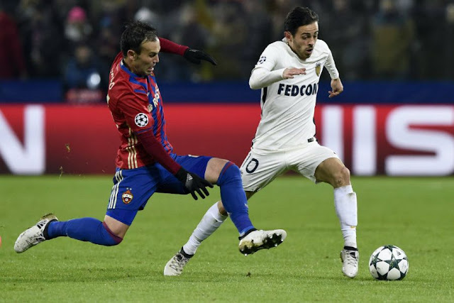 Le Portugais Bernardo Silva a marqué en Ligue des Champions contre Moscou