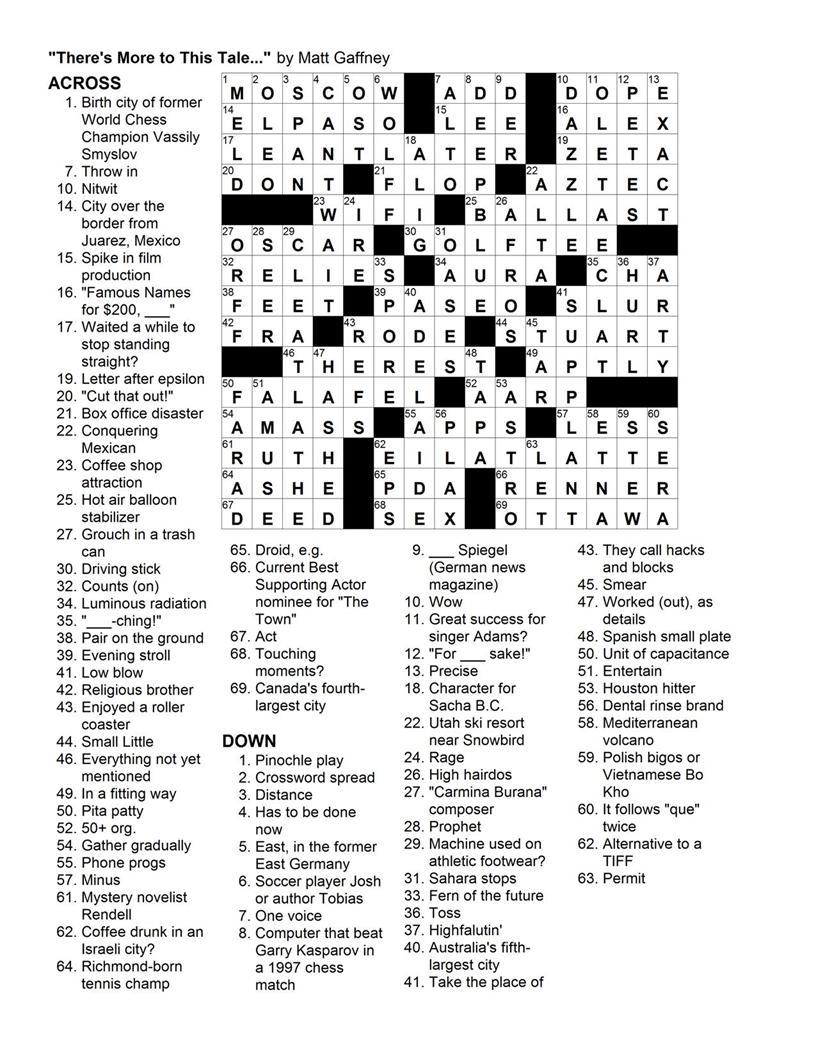 Matt Gaffney's Weekly Crossword Contest: MGWCC #141