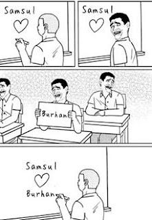 meme burhan love samsul