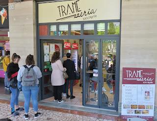 Cremona's Tramezzeria XXV Aprile sandwich shop at lunchtime.