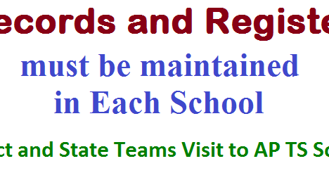 Records,Registers must be Maintained in Each School | Displaying ...