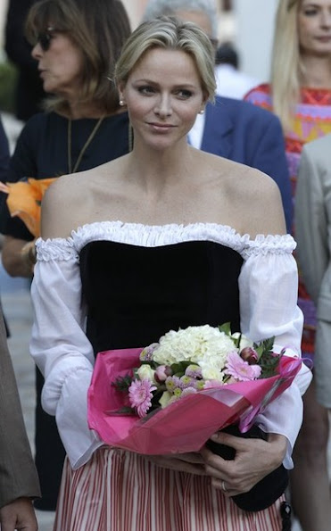 Prince Albert, Princess Charlene and Princess Caroline attended the annual picnic at the Parc Princesse Antoinette
