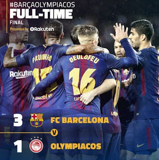Barcelona vs Olympiacos 3 : 1 Video Gol