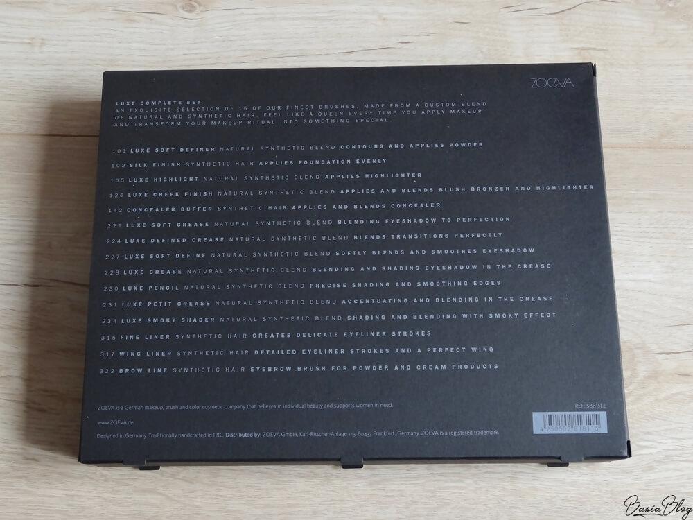 Zoeva Luxe Complete Set zestaw pędzli