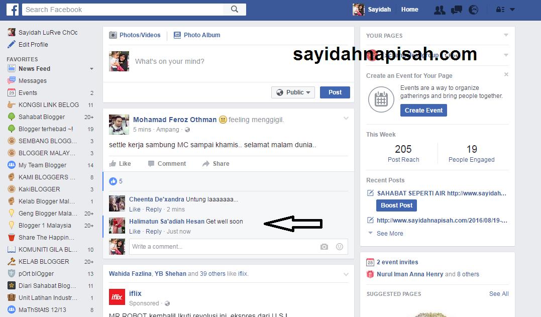 boleh tengok orang typing comment di Facebook