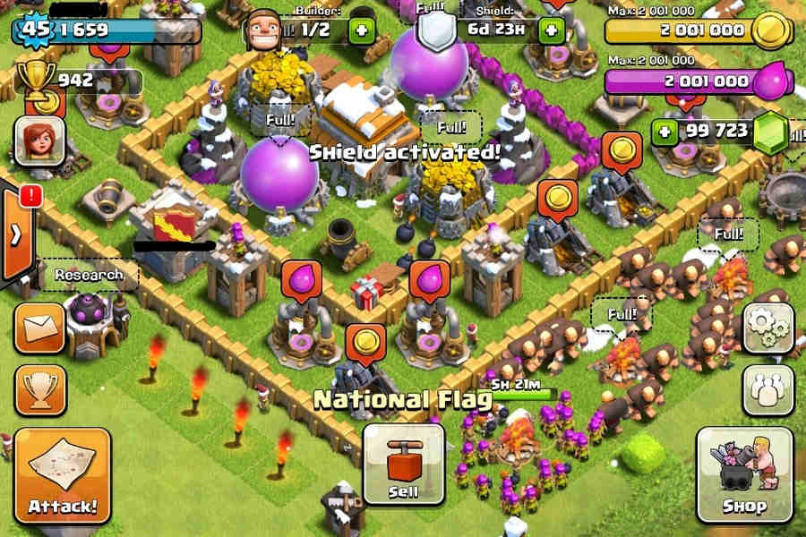 free clash of clans unlimited gems hack cheat tool