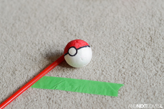Pokeball activity for kids from And Next Comes L