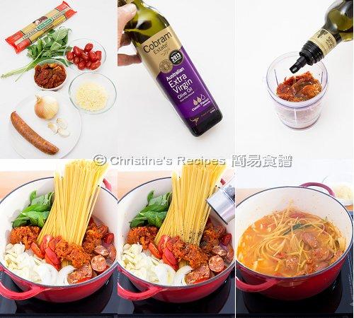 蕃茄羅勒意大利粉製作圖 One Pot Pasta Procedures