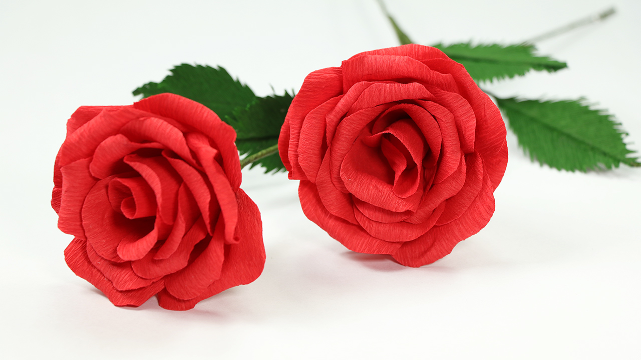 How to make paper flower with crepe paper diy rose craft idea how to make paper rose flowers using crepe duplex paper step by step tutorial mightylinksfo
