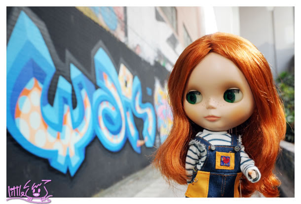 Blythe, B女, 小布, 波子, Graffiti, 塗鴉, 旺角, 塗鴉牆
