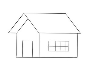 cara+menggambar+rumah