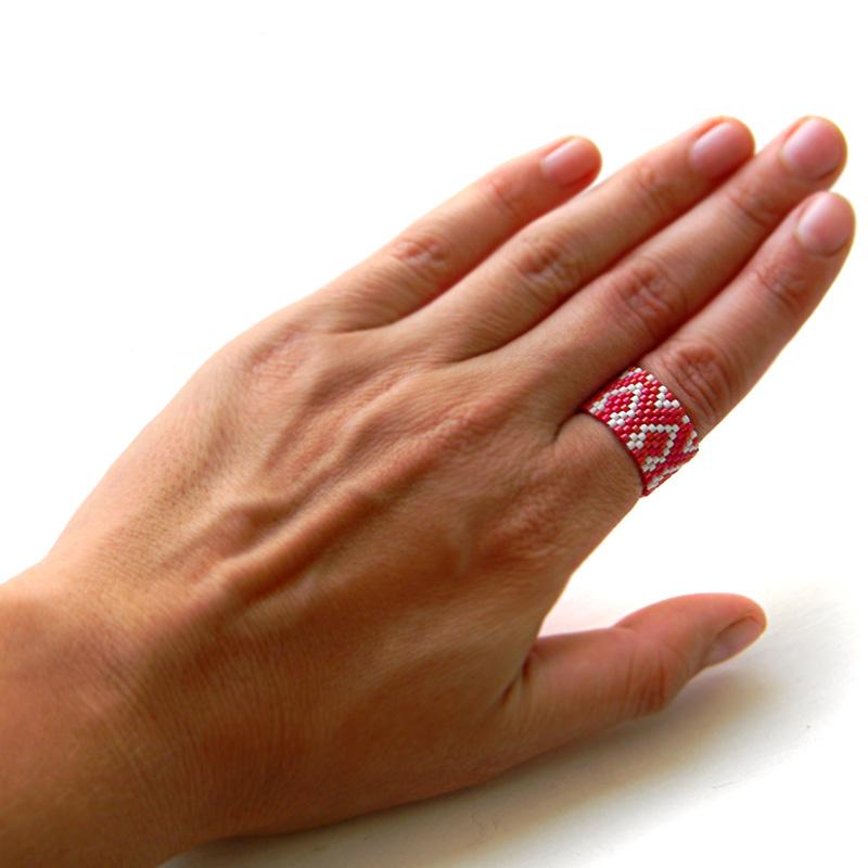 Кольца из бисера (Peyote rings)