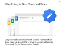 Chrome per modificare file Word, Excel, Powerpoint, anche offline